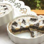 Crostatine al sambuco, cioccolato e mandorle