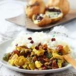 Pollo con zucchine, pomodorini secchi e melagrana