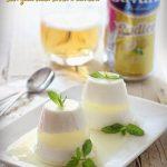 Budino di latte con gelée alla birra e limone