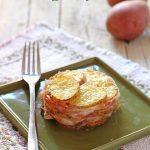 Sformatini di patate con mozzarella e speck