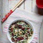 Noodles con agretti, pomodorini secchi e olive taggiasche