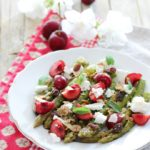 Insalata di asparagi, ciliegie e feta