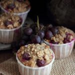 Muffin di segale all'uva fragola