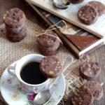 Biscotti al cacao e pistacchi