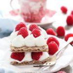 Finta cream tart con mousse allo yogurt