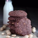 Peanut butter & chocolate vegan cookies