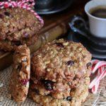 Biscotti ai fiocchi d'avena e cranberries (vegan e senza glutine)