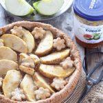 Crostata (all'olio) di grano saraceno alle mele e fichi (gluten free)