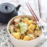 Insalata con tofu e ananas